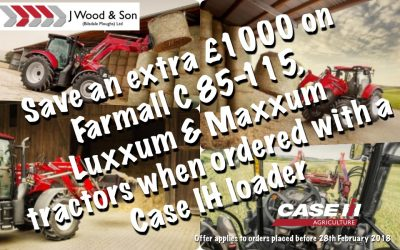 Save £1000 with our Case IH Tractor and loader offer